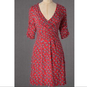 Boden   Gathered Band Tunic Floral Dress